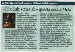 Articolo Corriere del Mezzogiorno 07 Marzo 2013mola