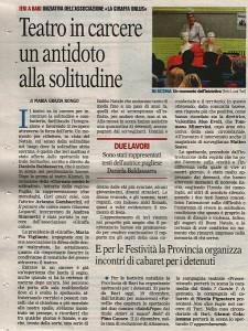 Articolo   La Gazzetta del Mezzogiorno 19 Dicembre 2012